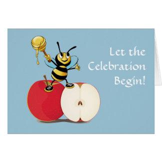 Honeybee Apple Rosh HaShana Card