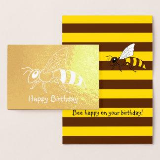 Honeybee Inverted Foil Birthday Card