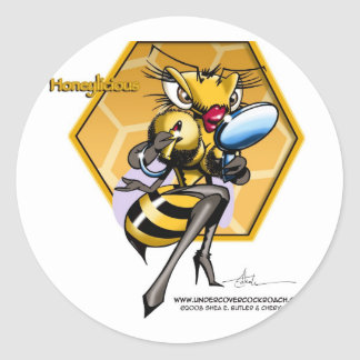 HONEYLICIOUS Honeycomb Round Sticker