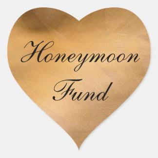 Honeymoon Fund Copper Heart Heart Sticker