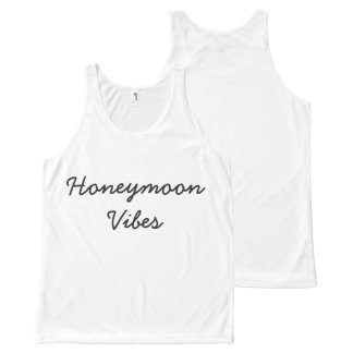 Honeymoon Vibes Tank Top All-Over Print Tank Top