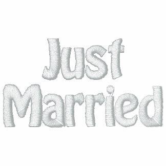 Honeymooner Just Married Embroidered Ladies Zipped Hoodie
