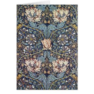 Honeysuckle Flower William Morris Card