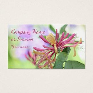 Honeysuckle flowers photo business card