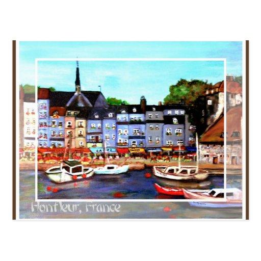 Honfleur, France Painting Postcard