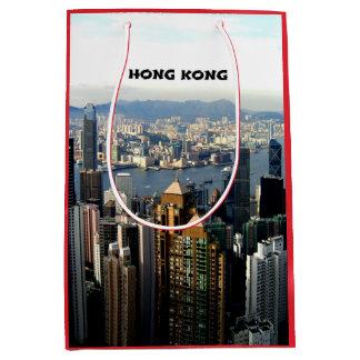 Hong Kong Cityscape Medium Gift Bag