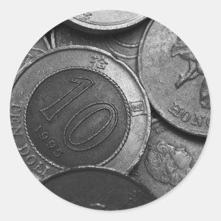 Hong Kong Coins Classic Round Sticker