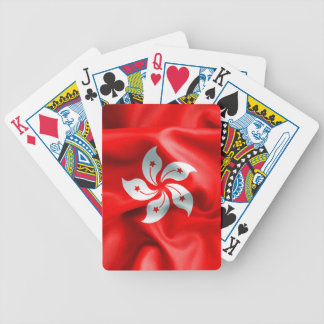 Hong Kong Flag Bicycle Playing Cards