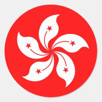 "Hong Kong Flag ""Classic"" Classic Round Sticker"