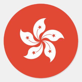 Hong Kong Flag HK Classic Round Sticker