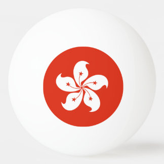 Hong Kong Flag Ping Pong Ball