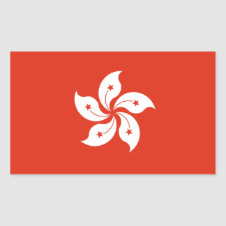 Hong Kong* Flag Sticker