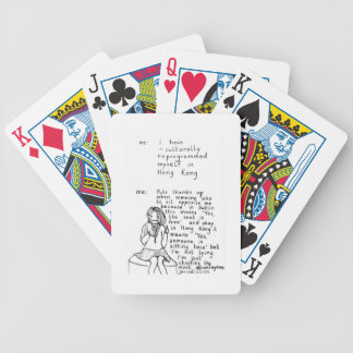 Hong Kong Mindset Bicycle Playing Cards