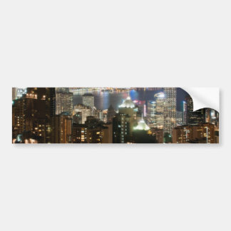 Hong Kong Night Skyline from Victoria Peak Bumper Sticker