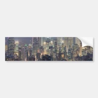 Hong Kong Night Skyline from Victoria Peak Bumper Sticker