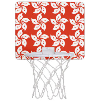 Hong Kong Orchid Flag Pattern Mini Basketball Hoop
