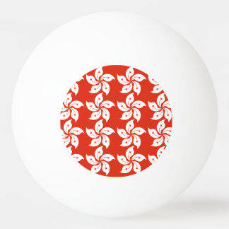 Hong Kong Orchid Flag Pattern Ping Pong Ball