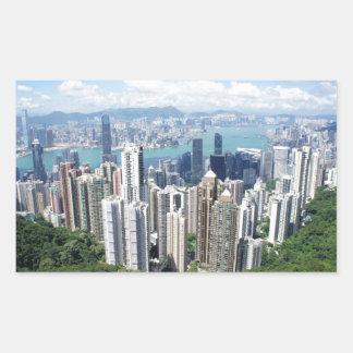 Hong Kong Peak Rectangular Sticker