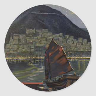 Hong Kong ~ Riviera of the Orient Classic Round Sticker