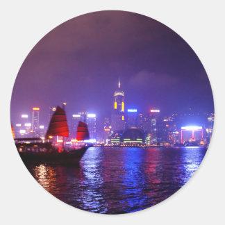 Hong Kong Round Sticker