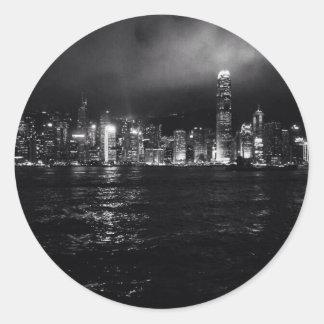 Hong Kong Skyline Classic Round Sticker