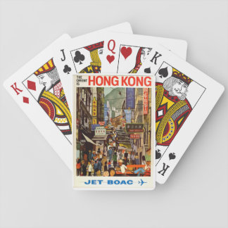 Hong Kong Vintage Travel Poster Playing Cards