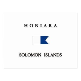 Honiara Solomon Islands Alpha Dive Flag Postcard
