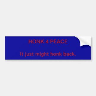 Honk 4 peace bumper sticker