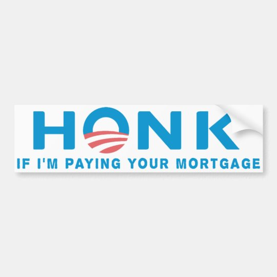 Honk Anti Obama Bumpersticker Bumper Sticker
