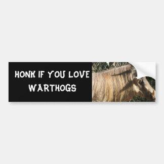 HONK IF YOU LOVE WARTHOGS BUMPER STICKER