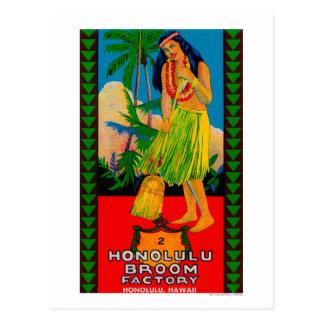 Honolulu Broom Handle LabelHonolulu, HI Postcard
