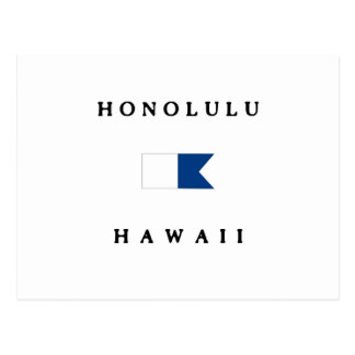 Honolulu Hawaii Alpha Dive Flag Postcard