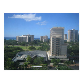 Honolulu, Hawaii City Shot Postcard