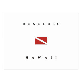 Honolulu Hawaii Scuba Dive Flag Postcard