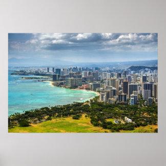 Honolulu, Oahu Poster