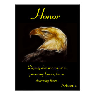 Honor eagle Posters