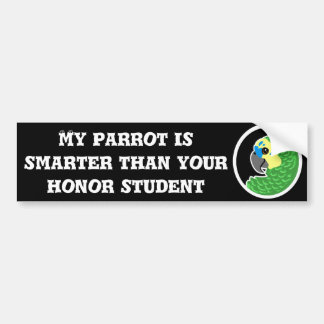 Honor parrot bumber sticker