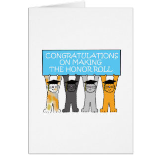 Honor Roll Congratulations Card