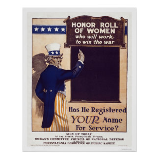 Honor Roll of Women Poster