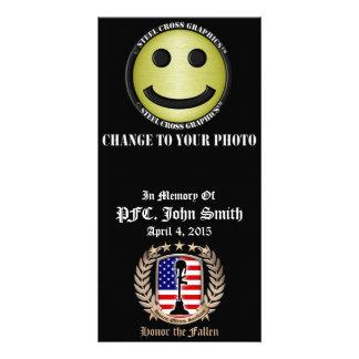 Honor The Fallen - Crest Custom Photo Card