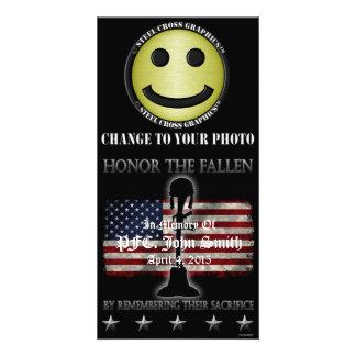 Honor The Fallen Custom Photo Card
