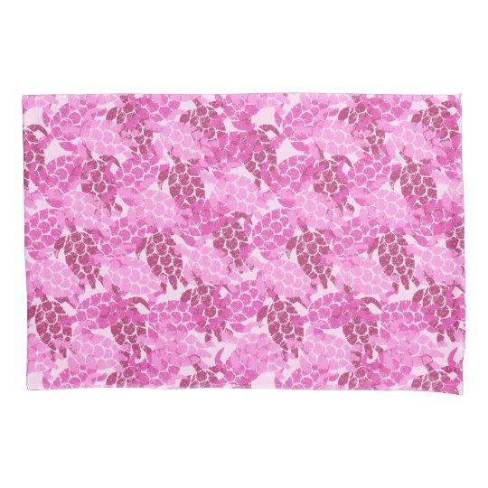 Honu Sea Turtle Hawaiian Aloha Reversible Pink Pillowcase