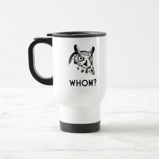 Hoo Who Whom Grammar Owl Travel Mug