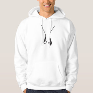 Hood shirt with Aufruck headphone