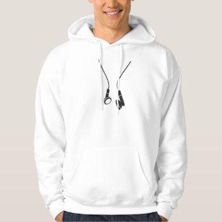 Hood shirt with Aufruck headphone