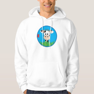 hoodie pullover sweater cow