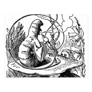 Hookah Smoking Caterpillar Alice in Wonderland Postcard
