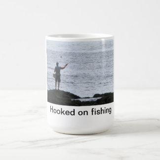 Hooked on Fishing Basic White Mug
