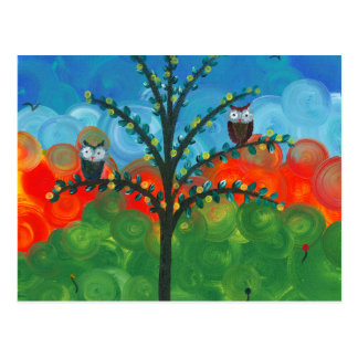 Hoolandia c 2013 – Owl Couples Postcards