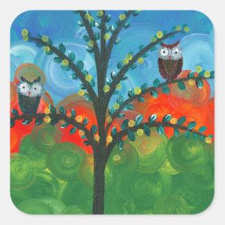 Hoolandia (c) 2013 – Owl Couples Square Sticker